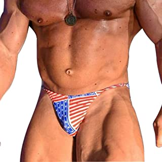 MUSCLE ALIVE Mens Underwear Sexy Briefs Thong Bikini Swim Suits