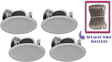 Yamaha Custom Easy-to-install In-Ceiling Flush Mount 3-Way 120 watts Natural Sound Speaker (Set of 4) with Dual Tweeters & 8