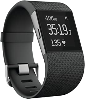 Fitbit Surge Fitness Superwatch, Black, Large (US Version) (Renewed)