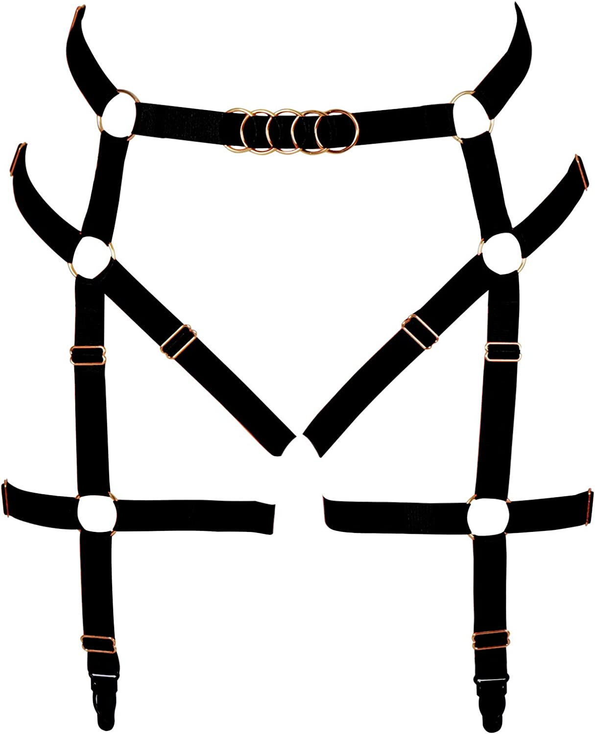 Women Leg Harness Garter Houston Mall Belt Adjust Strappy Free shipping on posting reviews Cage Thigh Elastic