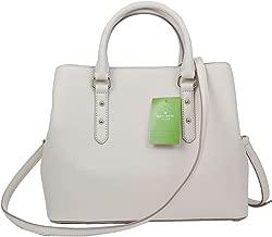 Kate Spade New York Evangelie Larchmont Avenue Pebble Leather Satchel Soft Limestone Off White Bag