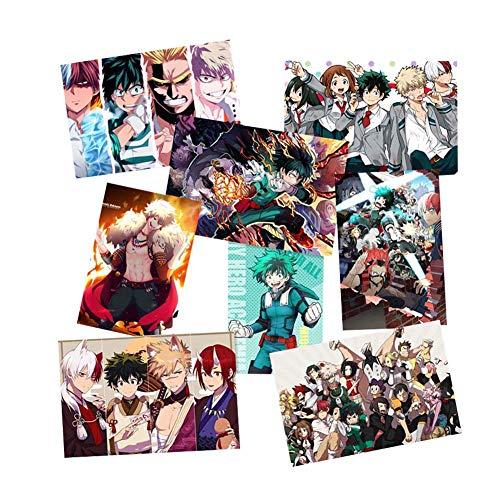 Haushele OFD 8 Bogen/Set Anime Poster My Hero Academia Poster Party Bar unter dem Motto Dekoriert Startseite Schlafzimmer Poster(H01)