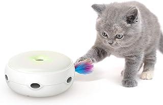 Mumoo Bear Interactive Cat Toys, Cat Toys Three Modes Day&Night Play Automatic Randomly Stimulates Cat's Senses, White