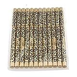 PIXNOR Lot de 12 Etanche Eyeliner Crayon à Sourcils avec Brosse - Noir