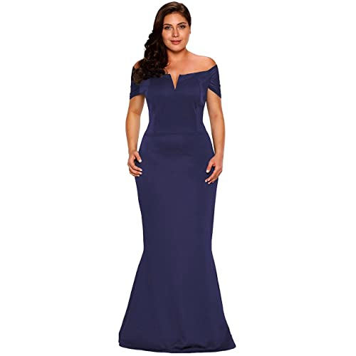 50eb5faa4735 Lalagen Women's Plus Size Off Shoulder Long Formal Party Dress Evening Gown