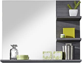 Trendteam Smart Living Miroir pour Salle de Bain avec Étagère Miami 72 x 57 x 17 cm, Aspect Argenté Cendré