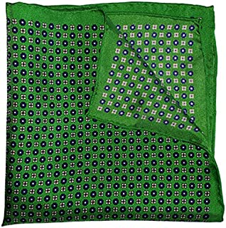 The Green Rein Silk Pocket Square