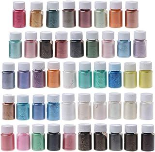 47 kleuren mica poeder epoxyhars kleurpigmenten briljante mica poeder kit zeepkleurstof voor verf, nagellak, make-up kaars...