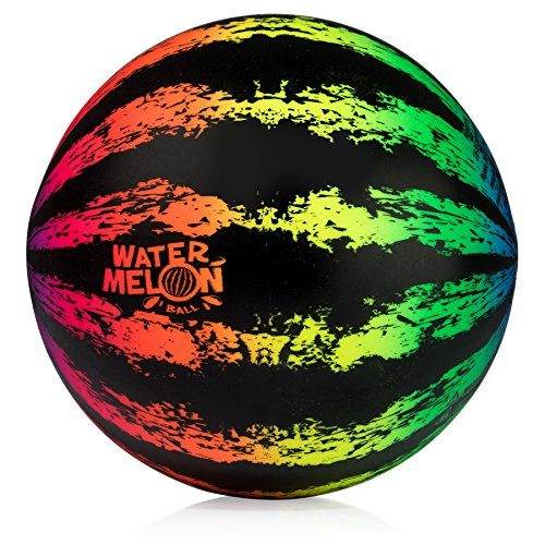 """Watermelon Ball JR - Pool Toy for Underwater Games - Durable Ball for Pool Football, Basketball & Rugby - Perfect for Water Parties - Fun for Adults & Kids Alike - 6.5"""" Fillable Pool Ball - Ages 6+"""