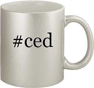 #ced - Ceramic Hashtag 11oz Silver Coffee Mug, Silver