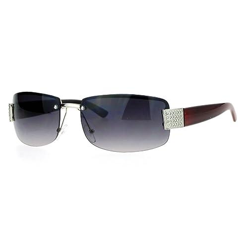 22d59efdd710 SA106 Rimless Rhinestone Jewel Hinge Luxury Bling Sunglasses