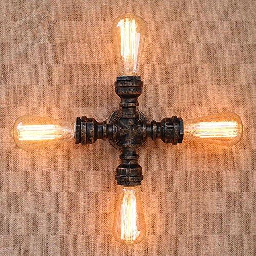 Lampe de mur simple en fer forgé