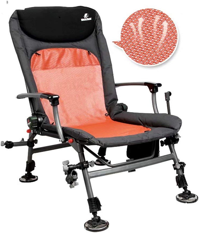 Fishing Chair Folding Multifunctional Camping Recliner Lifting Leg Fishing Chair