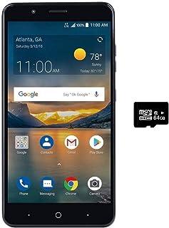 "ZTE Blade X2 MAX Z6400C (32GB, 2GB RAM) 6.0"" Full HD Display, Dual Rear Camera, 4080 mAh Battery, 4G LTE GSM Unlocked Smartphone (US Warranty) (32GB + 64GB SD Card)"