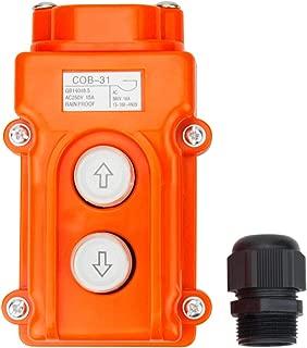 Electrical Buddy Monmentary Up Down Button Hoist Pushbutton Switch COB31 AC250V 15A AC380V 10A