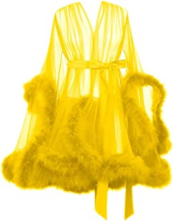 Best sexy feather robe Reviews