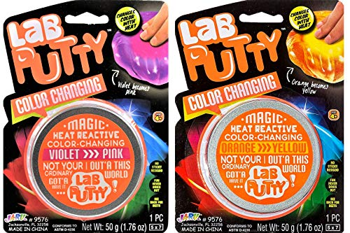 ab Putty Color Changing Heat Sensitive (2 Packs Assorted) and 1 Bouncy Ball by JA-RU. Stress Toy...