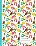 Aloha Hawaiian Summer Vacation Notebook Sketchbook Paper: 200 Blank Numbered Drawing Pages 8.5 x 11 Art Sketch Journal, School Teachers, Students Subject Book [Idioma Inglés]