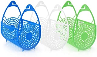 1 pc - PLASTIC PEGS, HANGING BASKET, BAGS HOLDER STORAGE, LAUNDRY CLOTHES WASHING, PEG BAGS, WATER RESISTANT, ASSORTED COLOUR