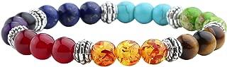 7 Chakras Bracelet Reiki Healing Balancing Round Beads