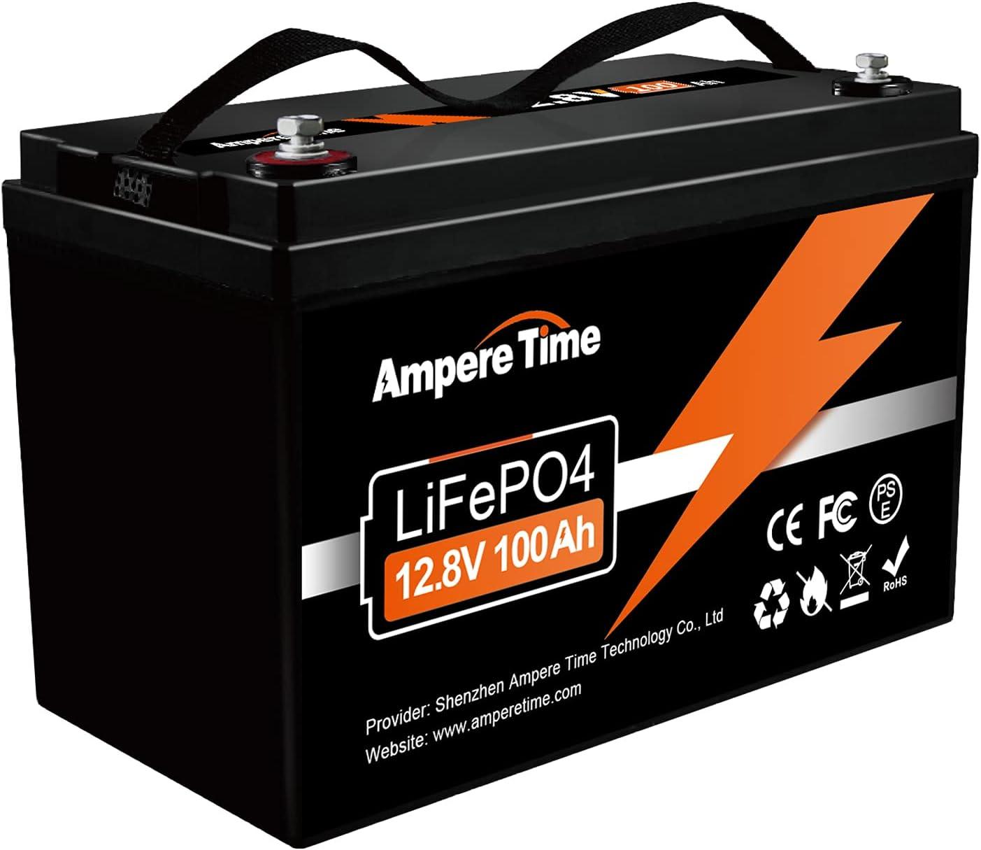 Ampere NEW売り切れる前に☆ Time LiFePO4 Battery 12.8V 送料無料 Phosphate 100Ah Iron B Lithium