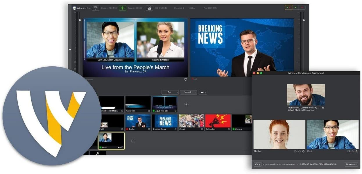 Telestream Wirecast Pro | Live Video Streaming Software Mac Electronic Delivery