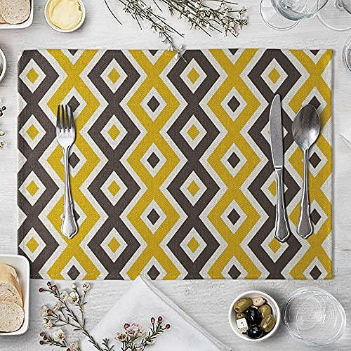 FYLYHWY MATERÍA Geometrica Negra Amarilla Materia DE LA Mesa DE LA Tabla DE LA Mesa Creativa para LA Cocina DE LA Boda DE LA Cocina DE LA Cocina DE LA Comida DE LA Comedor DE LA Cocina DE LA Boda