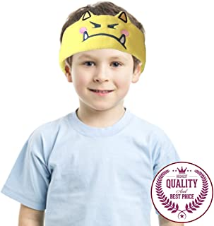 Charlxee Kids Headphones Cozy and Foldable Headphone Headband Toddler Headphones for Air Travel or Home - Yellow Monster