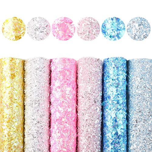 Ther Bow Making Fabric A5 1521cm Plain Color Glitter Synthetic Leather Set DIY Bow Earring Bag Faux Leather Fabric Leather Sheets for Crafting (Color : 1099473001)