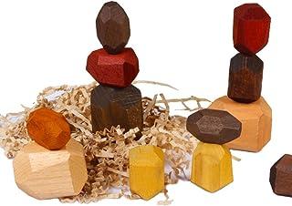 yeesport 15PCS Wooden Balancing Block Set Educational Wooden Balancing Blocks for Kids Toddlers Balancing Stacking Block G...