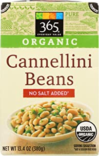 365 Everyday Value, Organic Cannellini Beans, No Salt Added, 13.4 oz