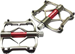 CYCPLUS Fietspedalen, 3 lagen mountainbike racefietspedalen, ultralichte aluminiumlegering fietspedalen met groot platform...