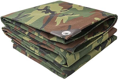 HongTeng Baches rembourrées extérieures de bache de Camouflage de bache de Toile de Tente de Toile de Prougeection Solaire de Poncho de bache de Prougeection de bache imperméable (Taille   5 x 5 m)
