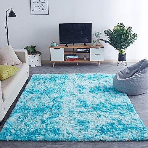 AUXING Weiche Und Glatte Tie-Dye-Teppich Wohnzimmer Couchtisch Home Teppich Modernen Minimalistischen Langen Haaren Schlafzimmer Bodenmatte60cm * 160cm