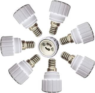 DZYDZR 8 pcs Bulb Holder E14 to GU10 Adapter Converter - E14 Light Socket to GU10 Light Bulb Base Socket, Fits LED/CFL Light Bulbs, Heat-Resistant, Anti-Burning, No Fire Hazard