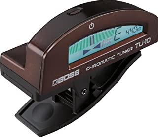 BOSS TU-10-BN Guitar Tuning Unit, Clip-On Tuner with ''True Colour'' Display, Full Visual Experience, Brown