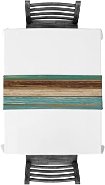 Teal Rustic Table Runner-Cotton linen-Small 13 x 36 inche Dresser Scarves,Farmhouse Tablerunner for Kitchen Coffee/Dining/Sof