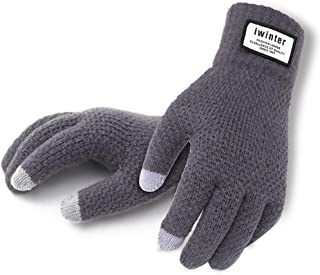 Hongyu 2018 Winter Gloves Touch Screen Gloves Winter Men and Women Knitting Yarn Plus Velvet Warm Outdoor Suitable for Sma...