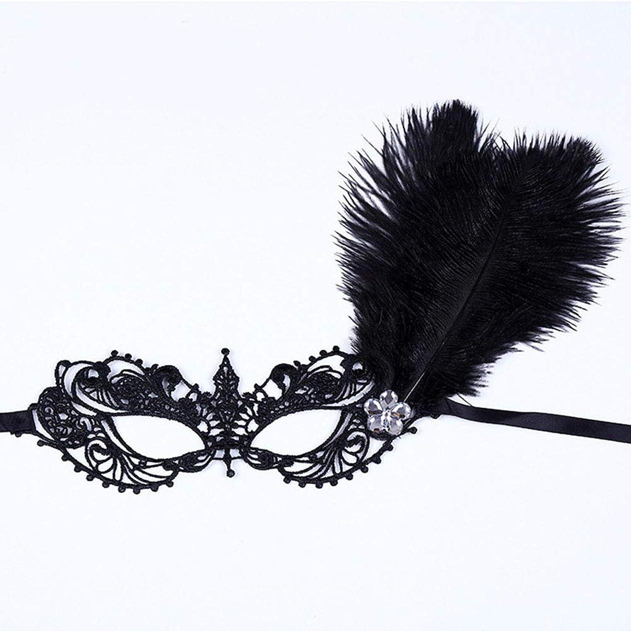 アウトドアメダリスト請願者仮面舞踏会の羽レースマスクキャットウォークパーティーセクシーなハロウィーンマスクブラック