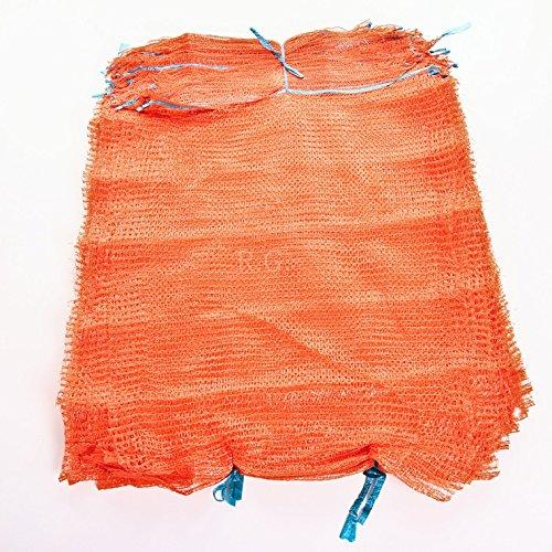 100 Raschelsäcke Obstsäcke Gemüsesäcke Kartoffelsäcke Sack Säcke Zugband 25kg 50x78cm von rg-vertrieb