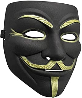 ZLLJH Lot V for Vendetta Mask White Guy Fawkes Anonymous Party Masker Dress Cosplay