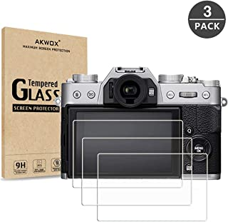 AKWOX [3-Pack] Compatible/Replacement for Fujifilm X-T20 X-T10 X-A1 X-A2 X-M1 X-E3 X30 Tempered Glass Screen Protector, [...