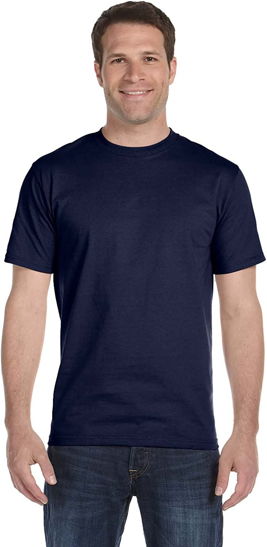 Hanes Men's Lay Flat Collar Tall Beefy T-Shirt, Navy, Large Tall