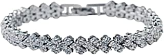Bow Women Crystal Bracelet Fashionable Crystal Ornament for Women Girls-Silver/Gold Color