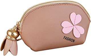Qootent Women Fashion Purse Handbag Sweet Flower Zipper Keychain Ladies Wallet