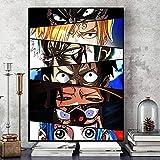 VCFHGVG Cuadro de Lienzo con Ojos de Personaje Famoso japonés, póster artístico, Pintura Decorativa, Mural, hogar, habitación de niños, decoración de Pared, 40x60cm, sin Marco