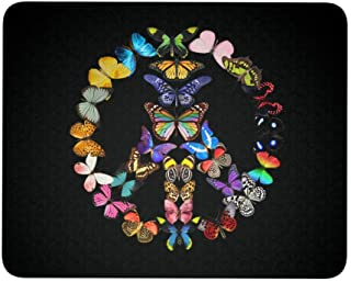 Butterflies Peace Sign Gaming Mouse Pad 9.25