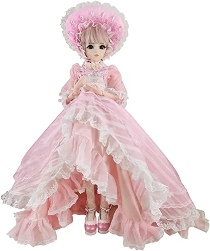 Anne BJD Doll Set 1 3 60cm 24 inch 19 ball jointed dolls Surprise Toy For Girl Gift