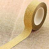 Display08 - Cinta adhesiva de carrocero con purpurina, 10 m dorado