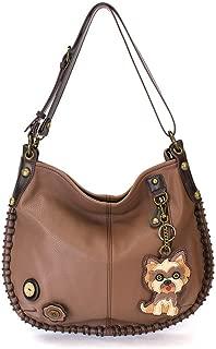 Yorkshire Terrier 's Gift Collection | Yorkie Theme Handbag/Keyfob/Wallet (Yorkie Hobo Brown)